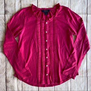 Polo Ralph Lauren Girls XL (16) Shirt Top Hot Pink